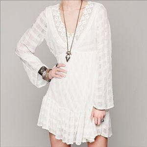 Free People Open Back Lace Gentle Dreamer Dress XS